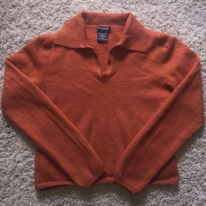 Vintage Orange Sweater Crop Top